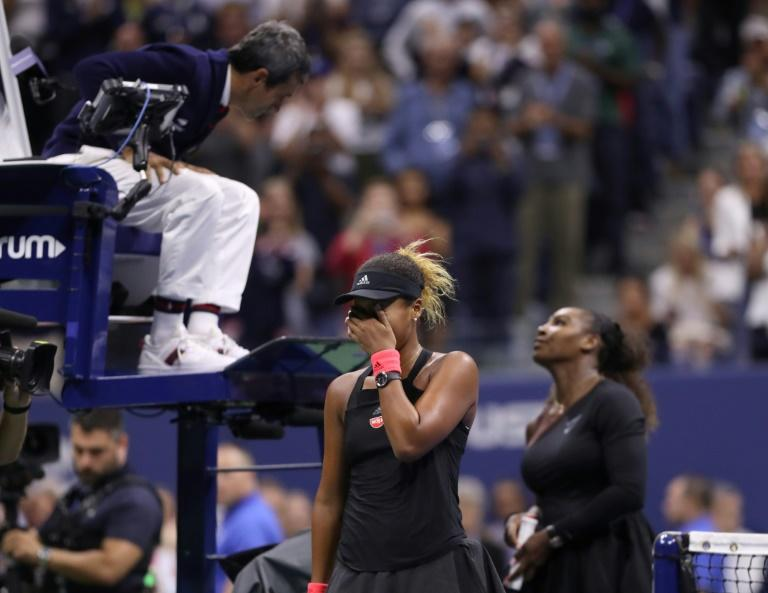 Naomi Osaka won a stormy match after Serena Williams repeatedly clashed with the chair umpire