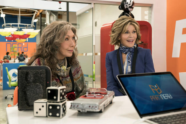 <p>Jane Fonda's co-star, Lily Tomlin, has been nominated twice before for Netflix's popular comedy series, but this is the first year that both Grace and Frankie will be in contention for Outstanding Lead Actress in a Comedy Series. Two acting legends are better than one, after all. <i>— EA</i><br><br>(Photo: Netflix) </p>
