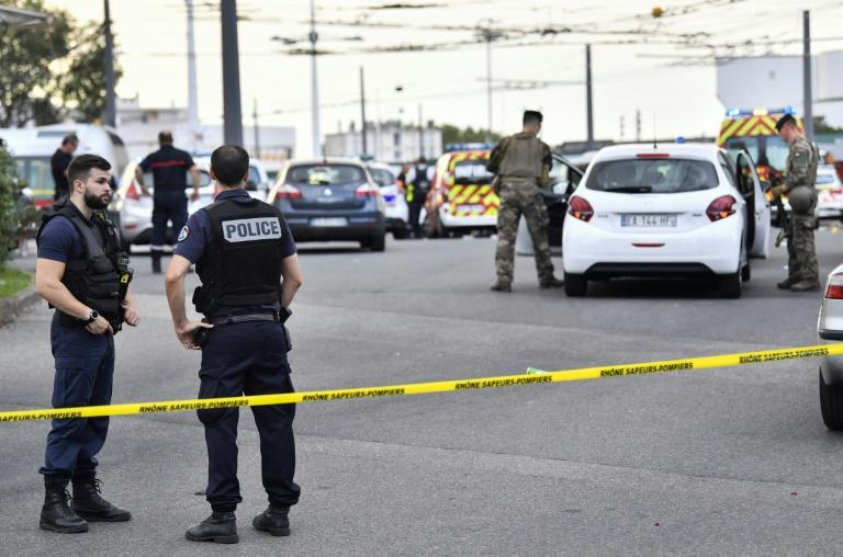 French police and soldiers sealed off the area after the attack