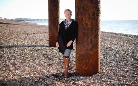 Picture shows Angela Laws pictured on Brighton beach - Credit: Christopher Pledger for the Telegraph