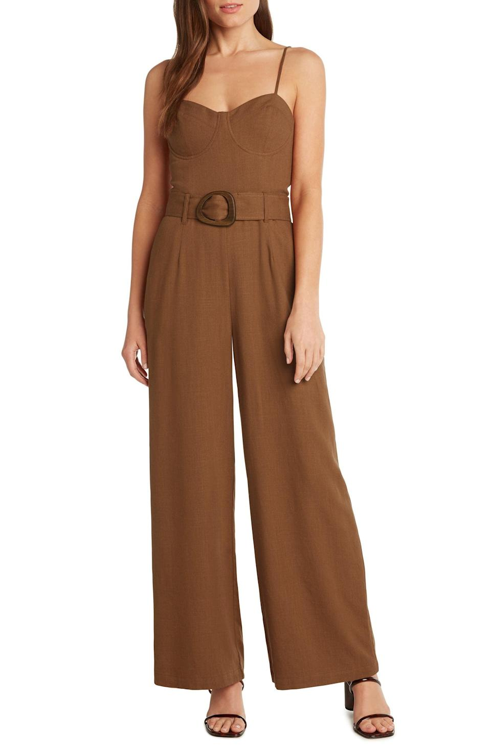 <p>We love everything about this <span>Willow Tuscany Jumpsuit</span> ($178): the belt detail, the earthy hue, and the modern silhouette.</p>