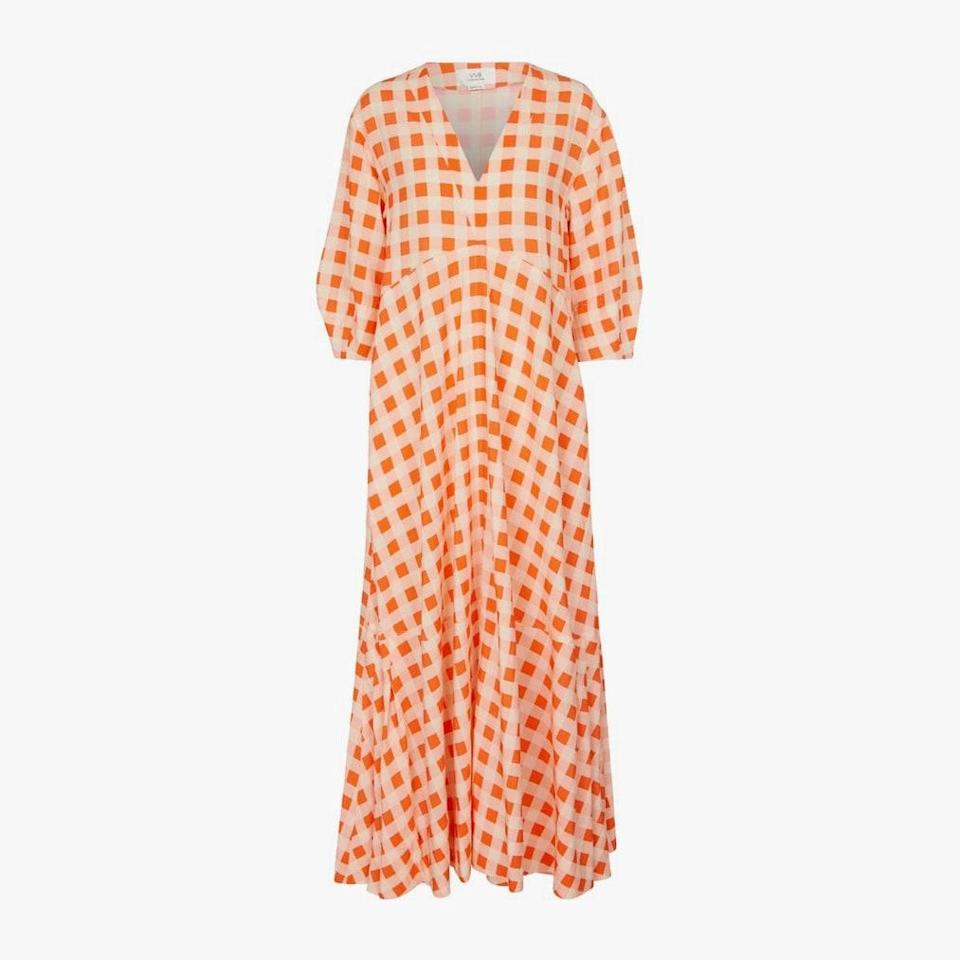 "$550, MYTHERESA. <a href=""https://www.mytheresa.com/en-us/victoria-victoria-beckham-gingham-faille-maxi-dress-1821017.html?utm_source=sea_pla&utm_medium=google&utm_campaign=google_sea&ef_id=Cj0KCQjw4cOEBhDMARIsAA3XDRhc5NUOTKpVq8DLZ2Eospx3WXZJ36eaVC0oOyNcIJFw8s_AyBYmD3AaAoBbEALw_wcB:G:s&&gclid=Cj0KCQjw4cOEBhDMARIsAA3XDRhc5NUOTKpVq8DLZ2Eospx3WXZJ36eaVC0oOyNcIJFw8s_AyBYmD3AaAoBbEALw_wcB&gclsrc=aw.ds"" rel=""nofollow noopener"" target=""_blank"" data-ylk=""slk:Get it now!"" class=""link rapid-noclick-resp"">Get it now!</a>"