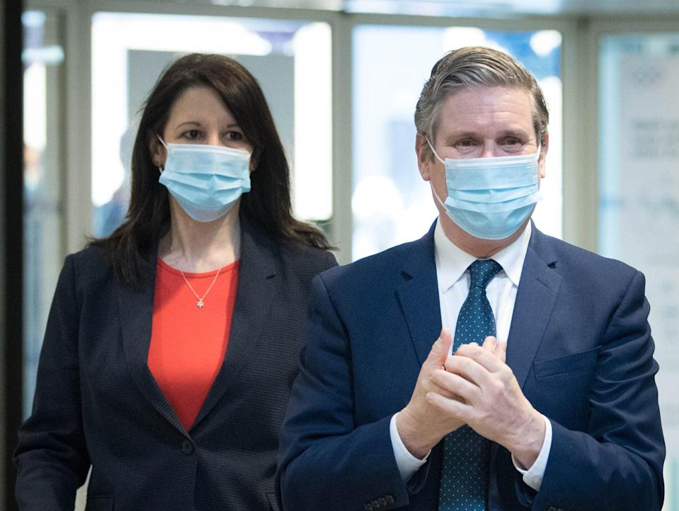 Labour party leader Sir Keir Starmer and Shadow Chancellor of the Duchy of Lancaster, Rachel Reeves (Getty Images)