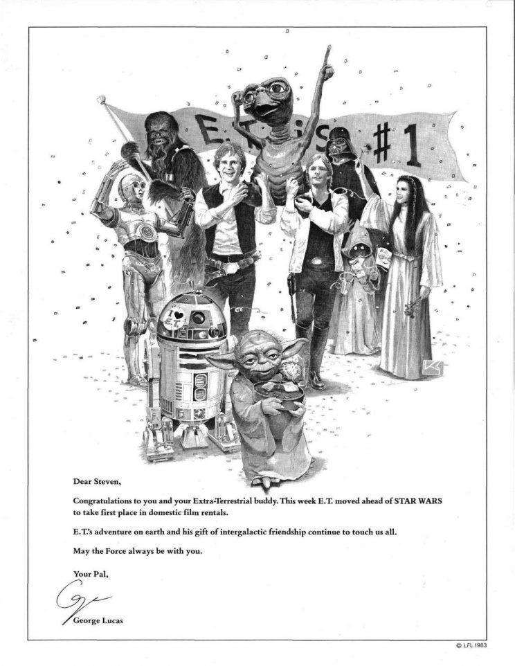 George Lucas's 1983 Variety tribute to 'ET' (credit: Variety)