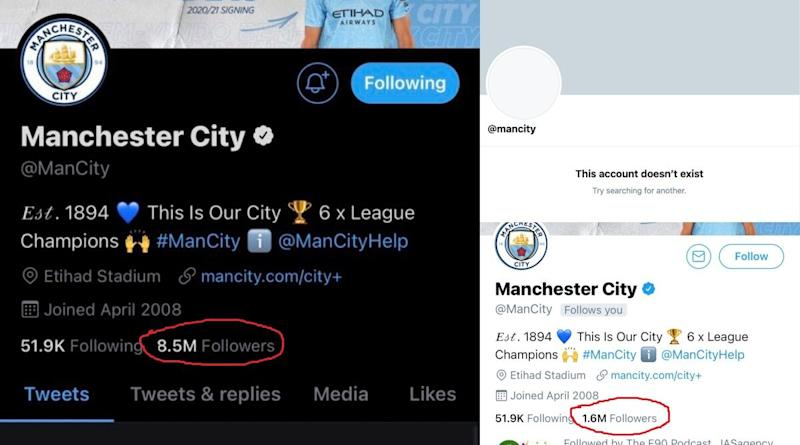 Manchester City's Twitter Account Mysteriously Disappears, Restored Minutes Later but With Decreased Followers; Fans Troll Club