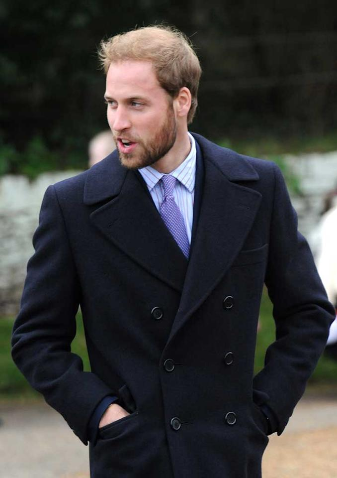 "Another Prince -- Prince William -- showed off his scruffy look while attending Christmas Day service at St. Mary Magdalene Church in Sandringham with the rest of the British royal family. Mark Sullivan/<a href=""http://www.wireimage.com"" target=""new"">WireImage.com</a> - December 23 2008"