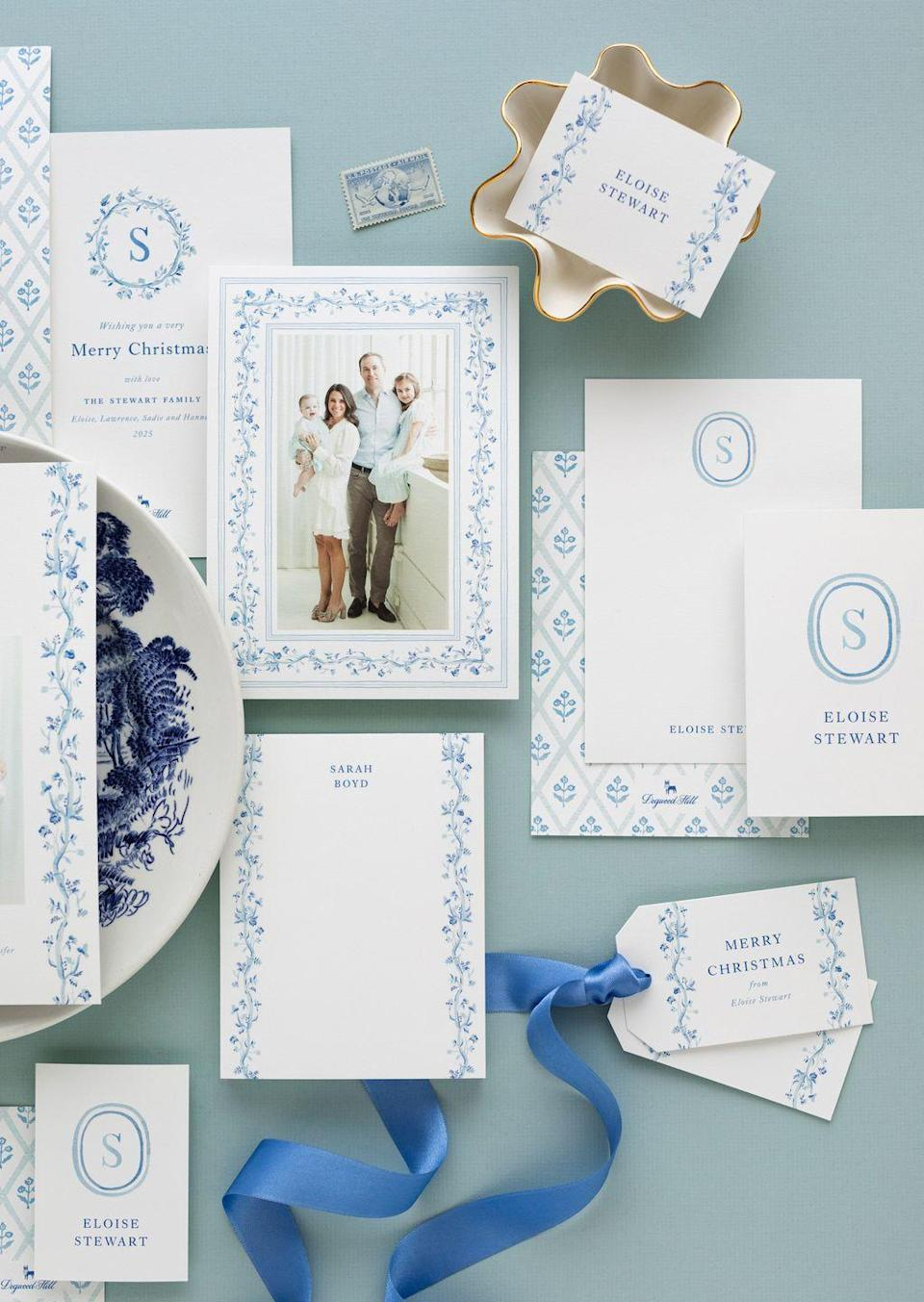 """<p>Okin recently teamed up with Gina Langford, a watercolor artist based in West Texas, to create a swoon-worthy stationery suite and other paper goods in Okin's signature color palette: blue and white. The New York-based interior designer hopes that this new collection will inspire a resurgence of letter-writing and card-collecting, two pastimes her mother passed down to her.</p><p>""""Growing up, my mom was very big on the importance of handwritten thank you notes, so stationery and handwritten notes have always held a special place in my heart,"""" says Okin. """"There's nothing better than receiving a note from a friend in the mail!""""</p><p>As a girl, Okin cherished her pale blue and ivory stationery sets on extra-thick cardstock from Crane & Co. with a matching tissue envelope liner. She says finding a set you love is an important step towards becoming a regular letter writer because it makes the experience more exciting and beautiful. She also recommends a quality writing utensil that highlights your impeccable penmanship.</p><p>""""Beautiful, personalized stationery is truly a lost art; physical documentation of our correspondence is so rare these days, and it's a special practice to keep alive,"""" she says. """"Seeing a note in a loved one's hand writing is such a meaningful memento–I save every written card from my mom and grandmother. If we lose written correspondence, we lose the personal touch that comes with it.""""</p><p>Shop the <a href=""""https://www.dogwood-hill.com/collections/ariel-okin-collection"""" rel=""""nofollow noopener"""" target=""""_blank"""" data-ylk=""""slk:Ariel Okin Collection"""" class=""""link rapid-noclick-resp"""">Ariel Okin Collection</a> now to stock up on botanical-inspired stationery, invitations, menus, and more ahead of the holidays. </p>"""