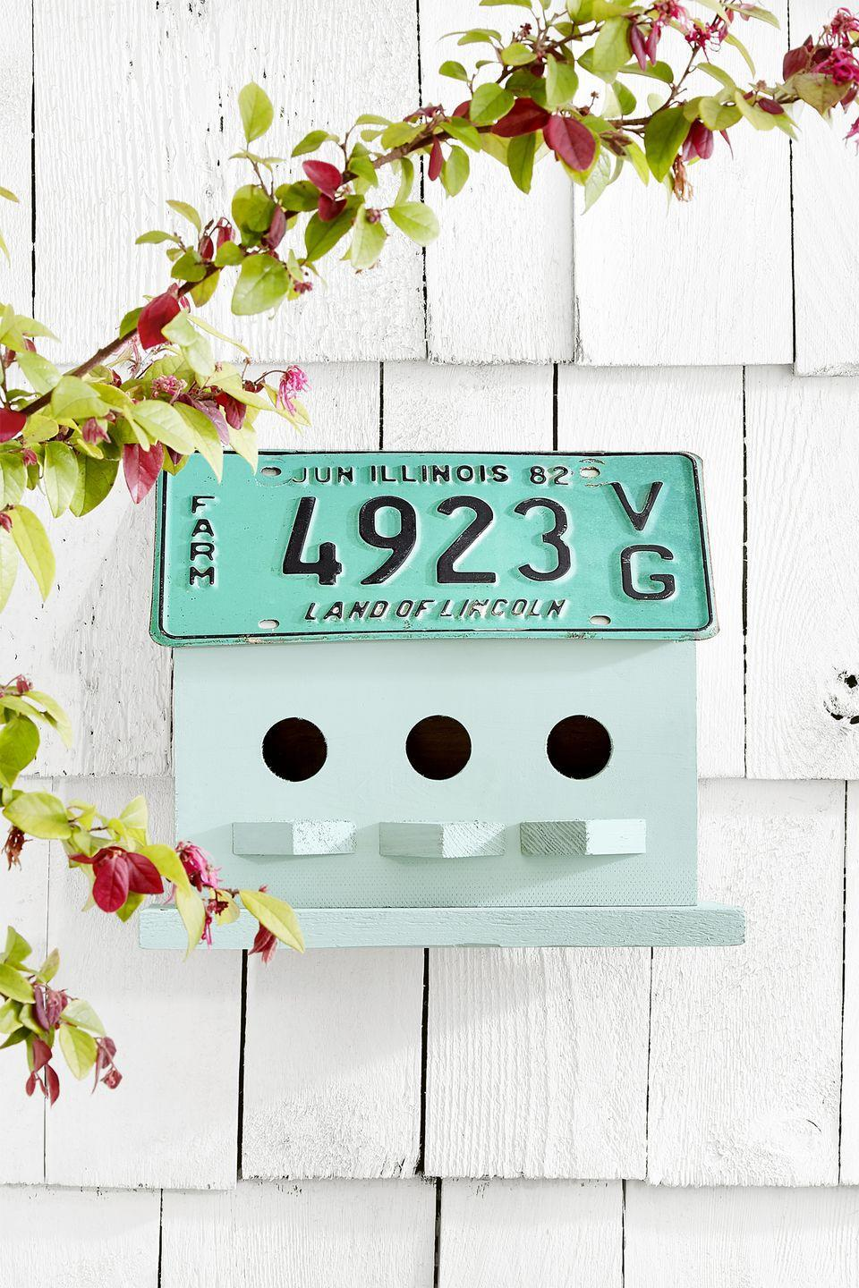"""<p>Old license plates also make a one-of-a-kind roof for your favorite birdhouse. Simply use hot glue or a screw to attach them to the <a href=""""https://go.redirectingat.com?id=74968X1596630&url=https%3A%2F%2Fwww.etsy.com%2Fshop%2FKeepAFeatheredNest&sref=https%3A%2F%2Fwww.countryliving.com%2Fdiy-crafts%2Ftips%2Fg645%2Fcrafty-christmas-presents-ideas%2F"""" rel=""""nofollow noopener"""" target=""""_blank"""" data-ylk=""""slk:little home"""" class=""""link rapid-noclick-resp"""">little home</a>.</p><p><strong><a class=""""link rapid-noclick-resp"""" href=""""https://go.redirectingat.com?id=74968X1596630&url=https%3A%2F%2Fwww.etsy.com%2Fshop%2FKeepAFeatheredNest&sref=https%3A%2F%2Fwww.countryliving.com%2Fdiy-crafts%2Ftips%2Fg645%2Fcrafty-christmas-presents-ideas%2F"""" rel=""""nofollow noopener"""" target=""""_blank"""" data-ylk=""""slk:SHOP BIRDHOUSES"""">SHOP BIRDHOUSES</a></strong></p>"""