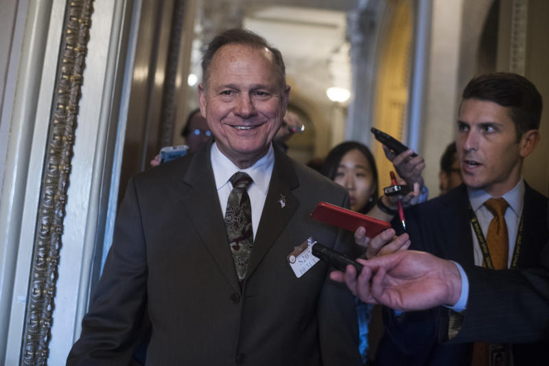 Roy Moore, who is slated to face Democrat Doug Jones in a Dec. 12 special election to fill the Senate seat vacated by Attorney General Jeff Sessions.