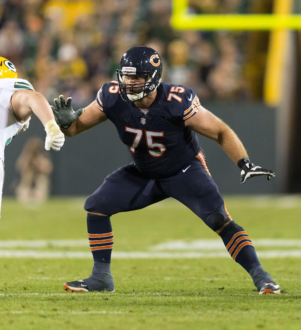 Kyle Long spent his first seven NFL seasons with the Bears.