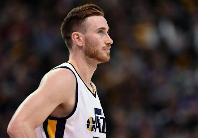"It took a minute, but <a class=""link rapid-noclick-resp"" href=""/nba/players/4724/"" data-ylk=""slk:Gordon Hayward"">Gordon Hayward</a> chose the Celtics. (Getty)"