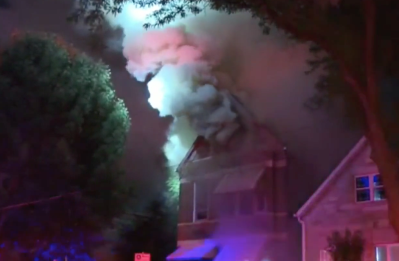 A 5-year-old boy is credited with saving the lives of 13 people in a Chicago house fire early Saturday morning. (Screenshot: CBS Chicago)