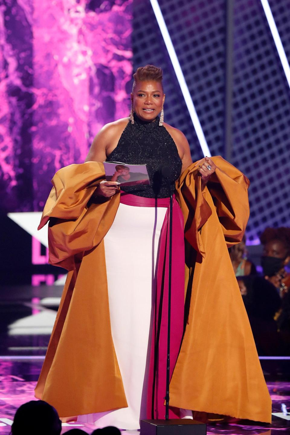 Of course, she had an outfit change to receive the Lifetime Achievement BET Award onstage.