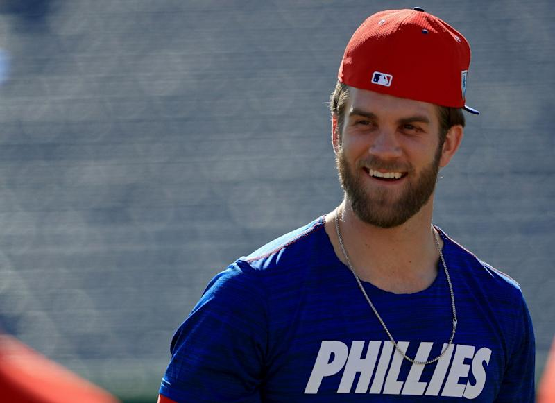 What will MLB look like when Bryce Harper's 13-year contract with the Phillies expires? We asked some players at spring training. (Getty Images)