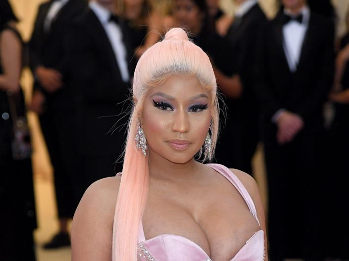 Nicki Minaj arrives for the 2019 Met Gala celebrating Camp: Notes on Fashion at The Metropolitan Museum of Art on May 06, 2019 in New York City.
