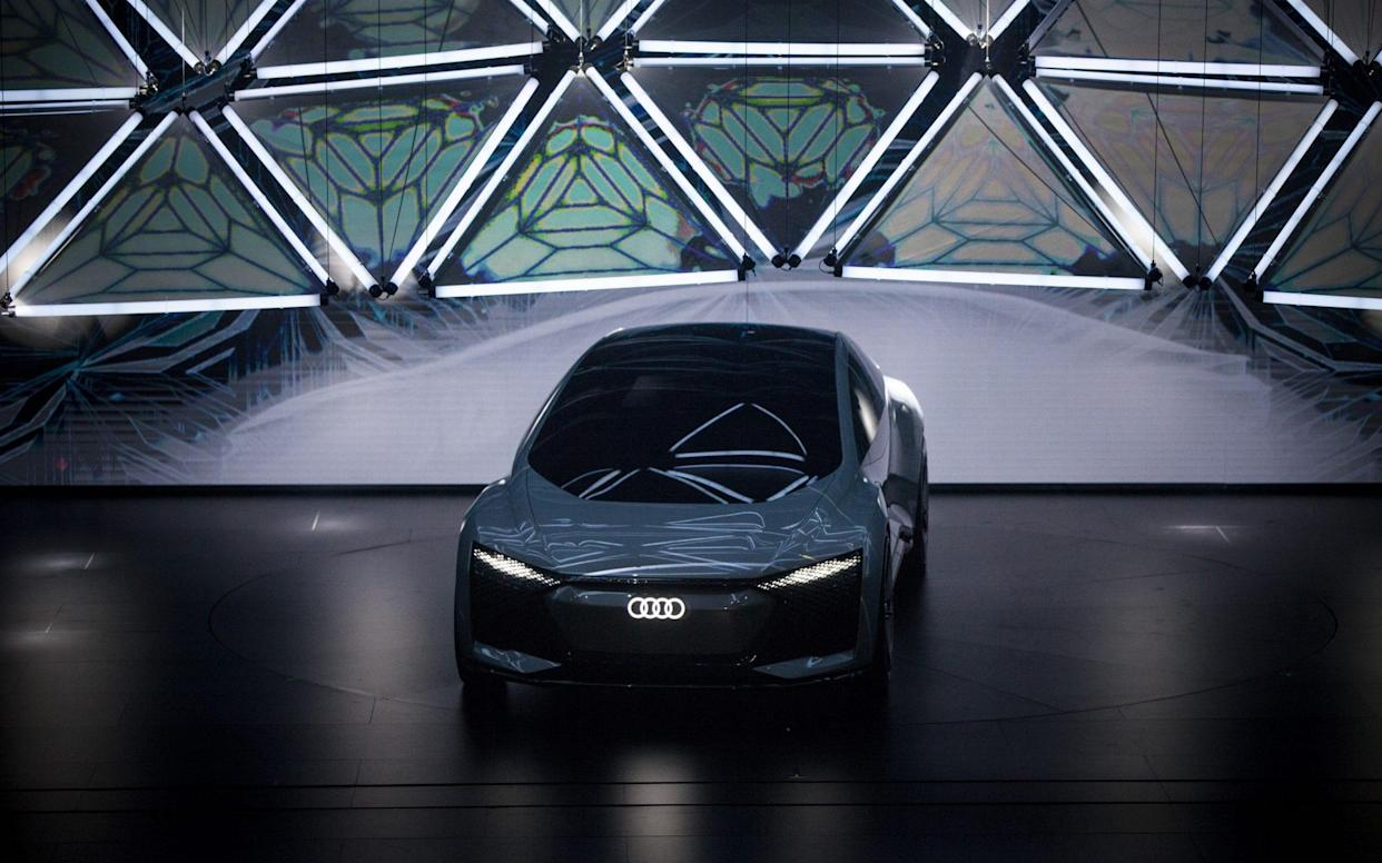 Audi's experimental Aicon electric autonomous car at an event in China last year - Bloomberg