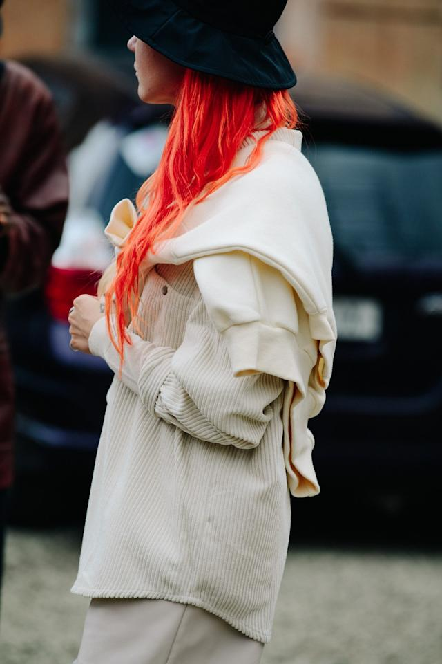 Street style during Mercedes-Benz Fashion Week Tbilisi on Friday, November 1st, 2019. Photograph by Adam Katz Sinding for W Magazine.