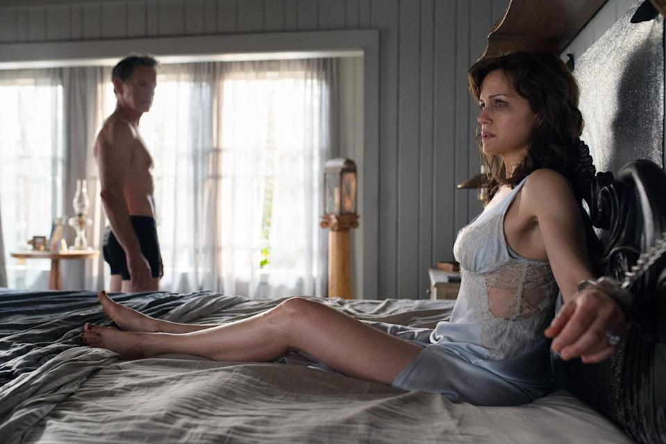 <p>Carla Gugino absolutely slays this one-woman showcase, adapted from Stephen King's 1992 novel, which is more of a taut survival story than a clown-infested horror show like <em>It</em>. <em>Gerald's Game </em>director Mike Flanagan uses the book's limited setting and intensely interior point of view to his advantage. We're trapped alongside Gugino and experience her exquisitely performed physical and emotional breakdown in almost real time. Handcuffs not included. <em>— E.A. </em>(Photo: Everett Collection) </p>