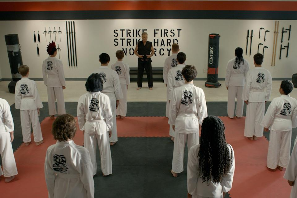 """<strong><em>Cobra Kai (Season 3)</em></strong><br><br>If you haven't started the follow-up series to <em>The Karate Kid</em> by now, what have you been doing? Taking place 30 years after the 1984 All Valley Karate Tournament, the drama follows Daniel LaRusso (Ralph Macchio) as his world collides once again with his old enemy Johnny Lawrence (William Zabka) who now runs the famous Cobra Kai karate dojo. After an explosive end to season two, the new season follows Miguel as he embarks on his recovery journey, while Johnny walks away from the dojo.<br><br>Available 8th January<span class=""""copyright"""">Photo Courtesy of Netflix.</span>"""