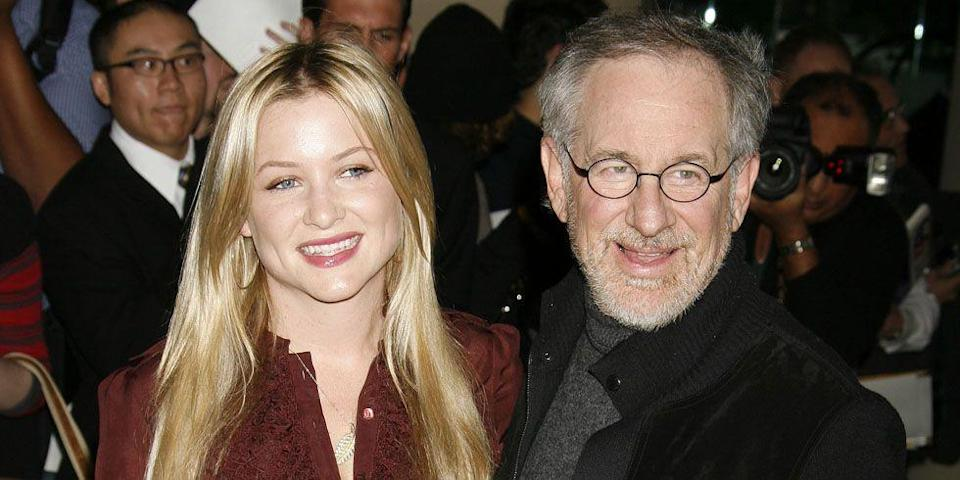 <p>Spielberg is Capshaw's stepfather.</p>