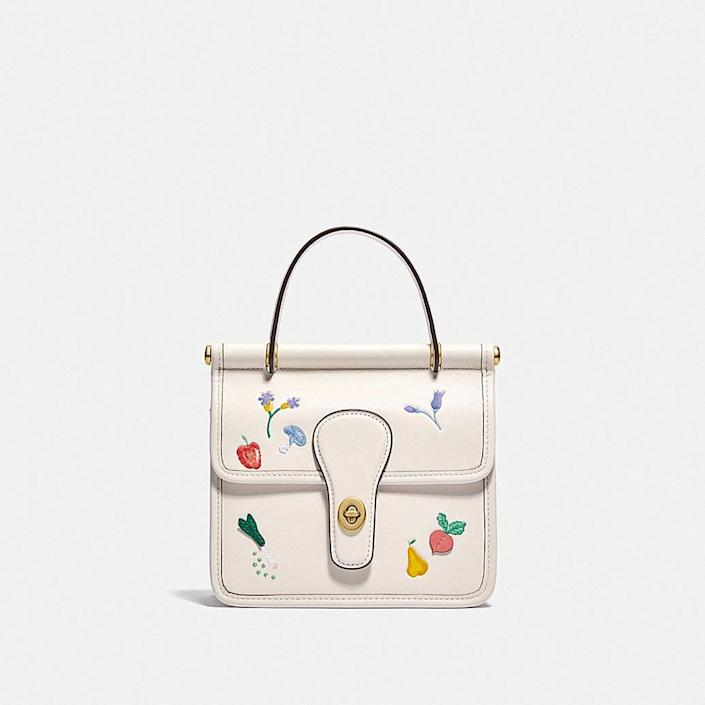 <p>The details on this <span>Coach Willis Top Handle Bag 18 With Garden Embroidery</span> ($450) are too cute.</p>