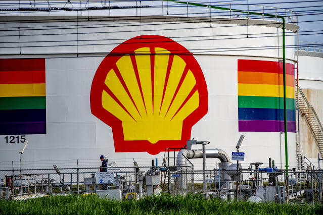 Royal Dutch Shell Oil industry company at the Port of Rotterdam pictured on July 2, 2019 in Rotterdam, Netherlands. (Robin Utrecht/Sipa USA)