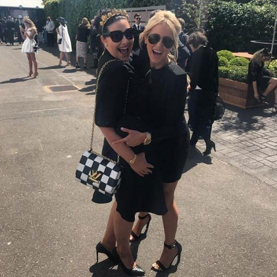 Roxy says if she were to have a wedding, one of her bridesmaids would be close pal Francesa Packer Barham, the niece of media mogul James Packer - Roxy and Francesca pictured at Derby Day. Source: Instagram