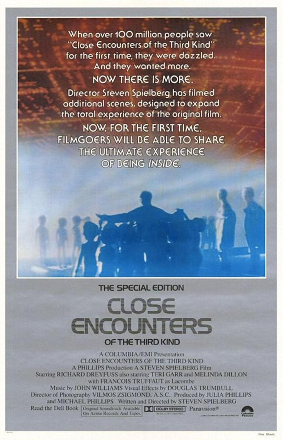 Spielberg's extended cut unwisely added scenes shot inside the UFO mothership which were eventually removed again for later releases (Columbia Pictures)