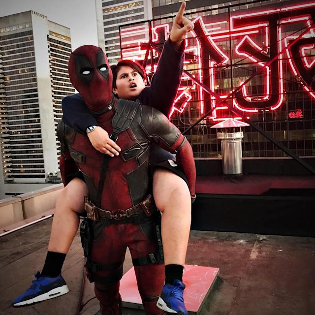 "<p>Reynolds introduced a new castmember, New Zealand actor Julian Dennison, in this June 27 post: ""Giving Julian Dennison a warm Deadpool welcome as we stare off into our beautiful future together."" (Photo: <a href=""https://www.instagram.com/p/BV33VF8DqSz/"" rel=""nofollow noopener"" target=""_blank"" data-ylk=""slk:vancityreynolds"" class=""link rapid-noclick-resp"">vancityreynolds</a>/Instagram) </p>"