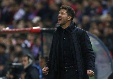 Soccer Football - Atletico Madrid v Bayer Leverkusen - UEFA Champions League Round of 16 Second Leg - Vicente Calderon Stadium, Madrid, Spain - 15/3/17 Atletico Madrid coach Diego Simeone Reuters / Juan Medina Livepic - RTX3178A