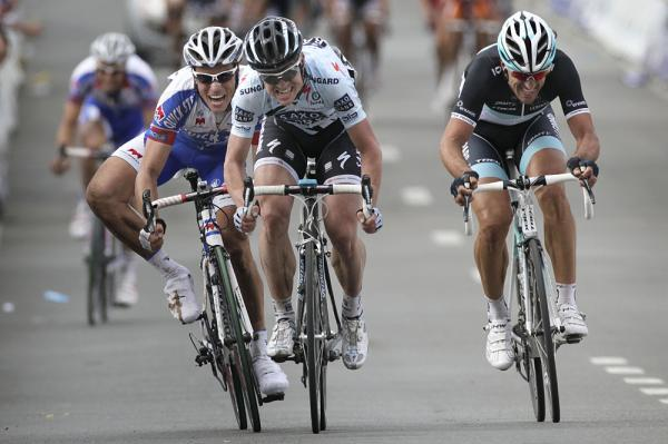 Sylvain Chavanel didn't have enough to contend with Nick Nuyens