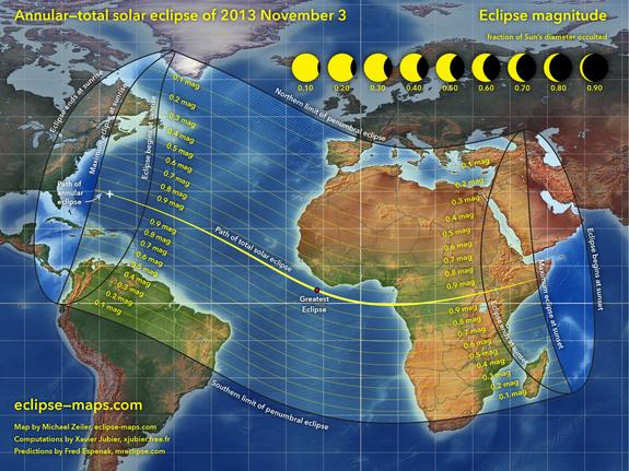 Rare Hybrid Solar Eclipse Occurs Today: Watch It Live Online