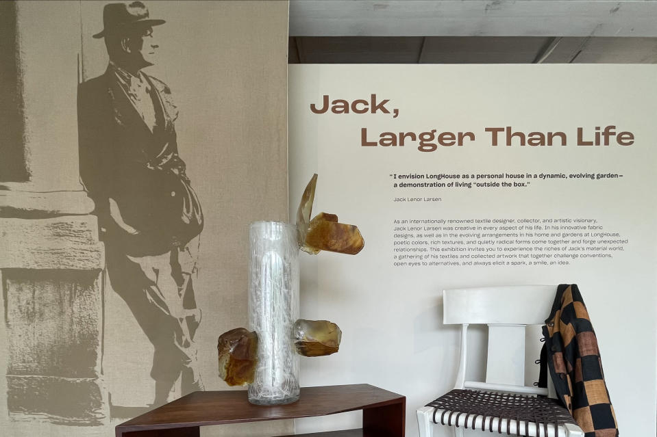 The creator and collector's artistic life is examined in the new show. - Credit: Photo Courtesy of LongHouse Reserve