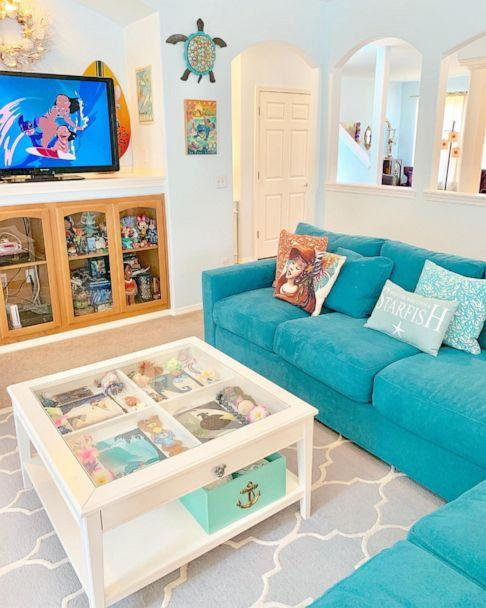 PHOTO: Lilo and Stitch and Moana inspired this Hawaiian themed living room. (Kelsey Hermanson)