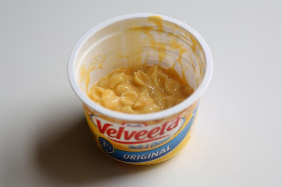 """<p>There are the die-hard lovers of Velveeta, and then there are the others. While so many people love the gooey, salty, """"liquid gold"""" cheese sauce, others found it almost <em>too</em> creamy and a bit watered down. The shells are also a little mushy, but if you like the boxed stuff, you'll still love this. </p> <p><strong>Overall:</strong>  </p> <div class=""""review-rating""""> <br> </div>"""