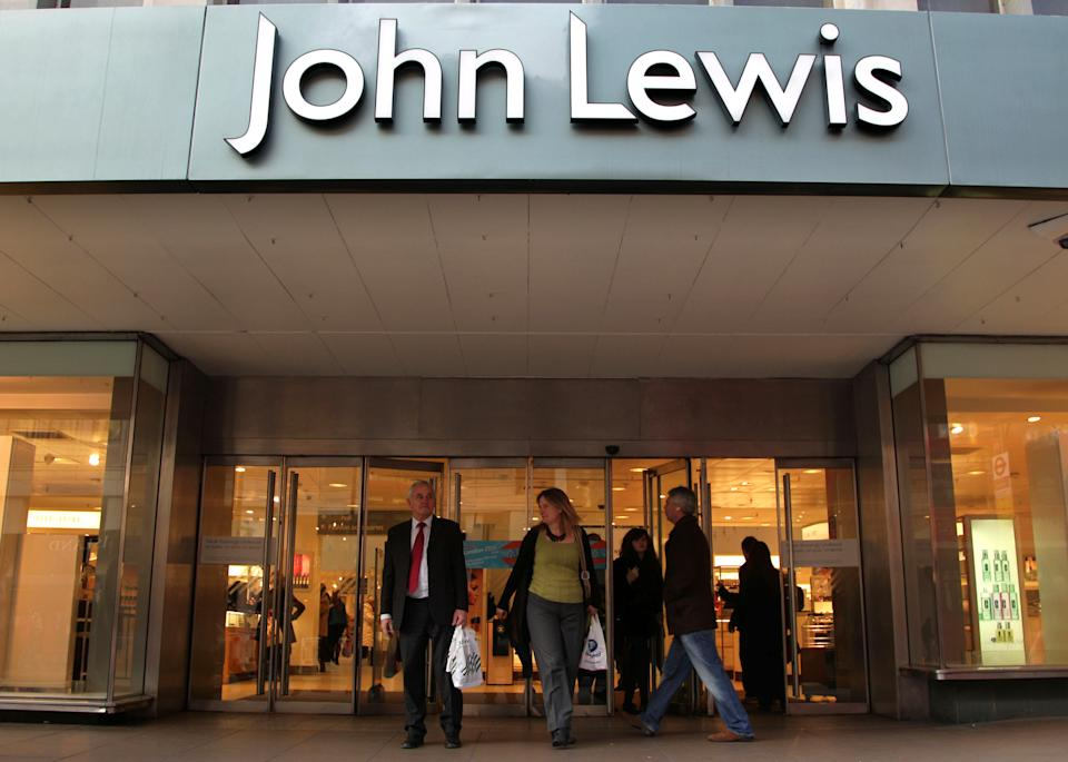 File photo dated 16/01/12 showing the John Lewis store in London. The John Lewis Partnership (JLP) is to reveal the full impact of the mass closure of its department stores as partners will also eagerly await updates regarding its ongoing strategic review.