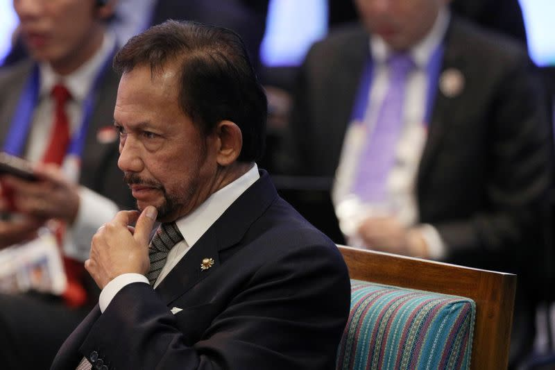 FILE PHOTO: Brunei's Sultan Bolkiah attends the opening session of the 31st ASEAN Summit in Manila