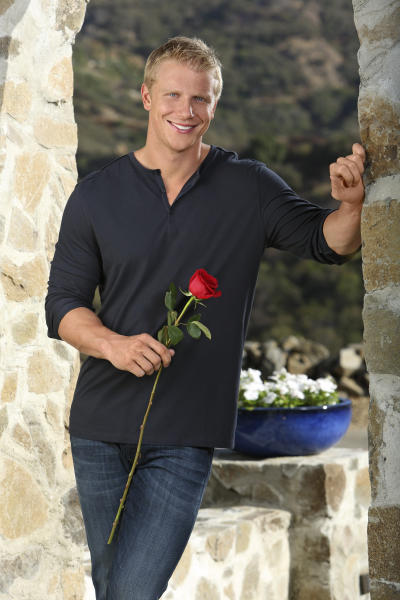 """This undated publicity image provided by ABC shows Sean Lowe, the 28-year-old star of the next edition of ABC's popular romance reality series, """"The Bachelor,"""" returning for its 17th season in January 2013. The 6-foot-3 Texan, who was a linebacker for Kansas State, worked in finance and insurance before starting a custom furniture business. (AP Photo, ABC, Kevin Foley)"""