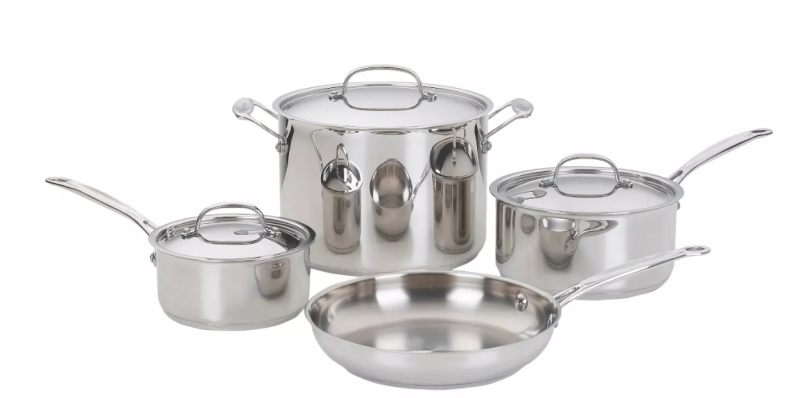 Cuisinart Chef's Classic Stainless Steel Set 7pc Set. (Photo: Target)