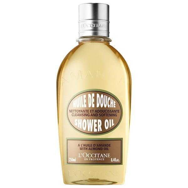 """<p>Pair this <span>L'Occitane Cleansing And Softening Shower Oil With Almond Oil</span> ($10-$25) with a <a href=""""https://www.popsugar.com/beauty/photo-gallery/47873991/image/47873995/LOccitane-Almond-Smoothing-Beautifying-Supple-Skin-Oil"""" class=""""link rapid-noclick-resp"""" rel=""""nofollow noopener"""" target=""""_blank"""" data-ylk=""""slk:rich body oil"""">rich body oil</a>, and chilly weather won't stand a chance against your satiny, moisturized skin.</p> <p><em>Love all things beauty? Can't get enough products? Come join our Facebook Group <a href=""""https://www.facebook.com/groups/389401751481325/"""" class=""""link rapid-noclick-resp"""" rel=""""nofollow noopener"""" target=""""_blank"""" data-ylk=""""slk:Real Reviews With POPSUGAR Beauty""""><span class=""""s1"""">Real Reviews With POPSUGAR Beauty</span></a>. There are lots of fun conversations happening there, as well as all the product recommendations you could ask for - not just from us but also community members.</em></p>"""