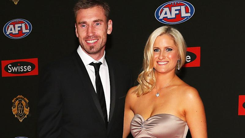 Shane Tuck and wife Kat, pictured here at the 2012 Brownlow Medal.