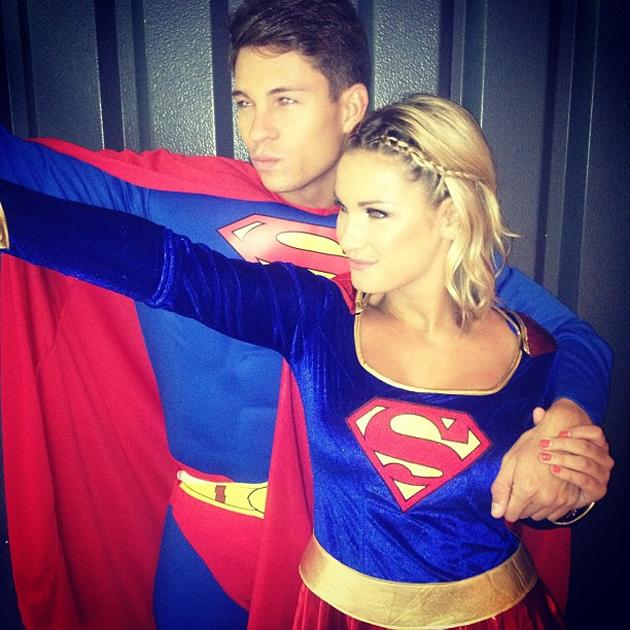 Celebrity photos: TOWIE's Sam Faiers and Joey Essex decided to dress up as super heroes for a trip to Alton Towers. As you do.