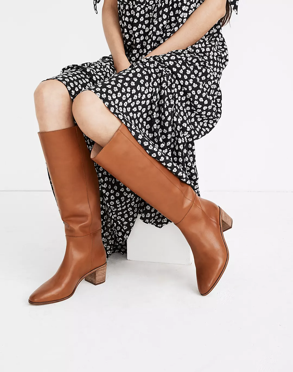 "<br><br><strong>Madewell</strong> The Carlotta Tall Boot, $, available at <a href=""https://go.skimresources.com/?id=30283X879131&url=https%3A%2F%2Fwww.madewell.com%2Fthe-carlotta-tall-boot-MA531.html"" rel=""nofollow noopener"" target=""_blank"" data-ylk=""slk:Madewell"" class=""link rapid-noclick-resp"">Madewell</a>"