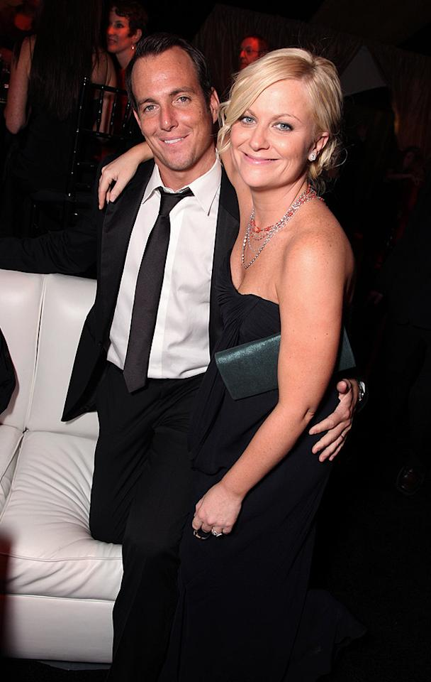 "New parents Will Arnett and Amy Poehler enjoyed a night out on the town without baby Archie. Eric Charbonneau/<a href=""http://www.wireimage.com"" target=""new"">WireImage.com</a> - January 11, 2009"
