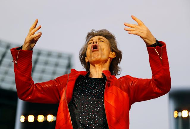 Mick Jagger of The Rolling Stones performs during their 'Stones - No Filter' tour at Olympic Stadium in Berlin, Germany, June 22, 2018. REUTERS/Hannibal Hanschke TPX IMAGES OF THE DAY