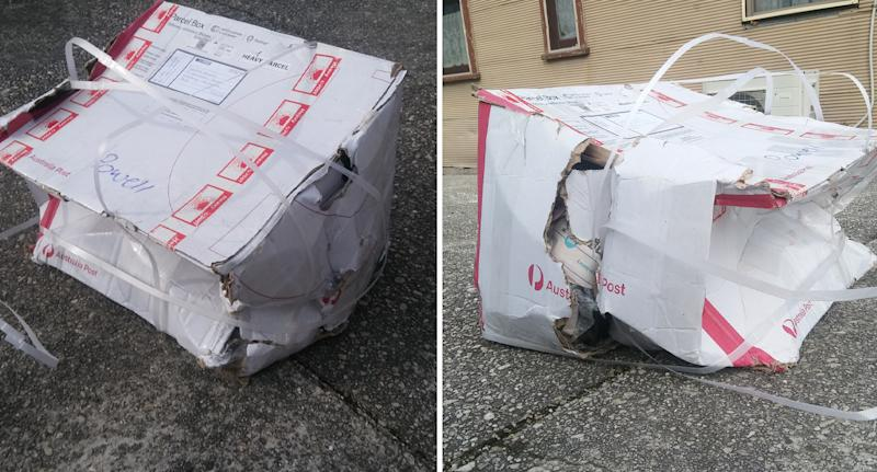 'Ridiculous': Man savages Australia Post over state of parcel