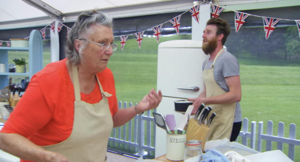 Diana was accused of sabotaging Iain's Baked Alaska. (Love Productions/Netflix)