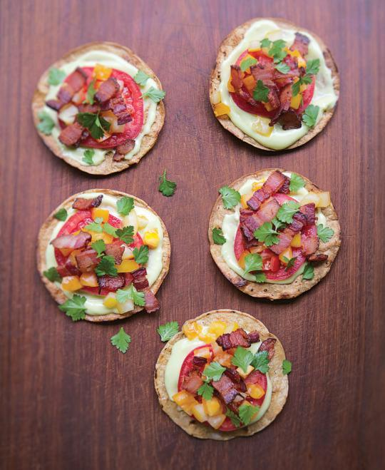 Mexican tostada blt recipe for cinco de mayo this recipe is excerpted from his latest book more mexican everyday ww norton company inc forumfinder Gallery