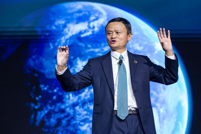 HANGZHOU, CHINA - AUGUST 28: Alibaba Group Chairman Jack Ma speaks during 2019 Global Conference on Women and Entrepreneurship on August 28, 2019 in Hangzhou, Zhejiang Province of China. (Photo by VCG/VCG via Getty Images)