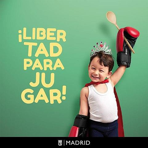 'Freedom to play:' Gender neutrality in children's toys campaign, by the Madrid City Council By Diario de Madrid - Diario de Madrid - 'Libertad para jugar', la campaña municipal a favor de los juguetes no sexistas, CC BY 4.0, https://commons.wikimedia.org/w/index.php?curid=76637978